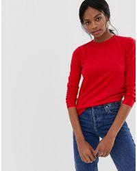 Warehouse Crew Neck Sweater - Red