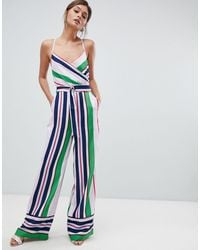 Ted Baker - Strappy Wrap Front Jumpsuit - Lyst