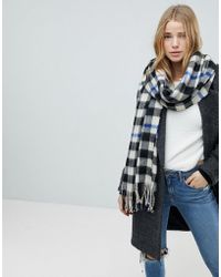 Miss Selfridge - Checked Scarf - Lyst
