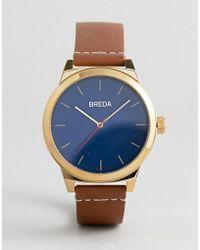 Breda - Men's Analog Display Quartz Brown Watch - Lyst