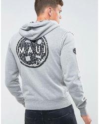Maui & Sons - Maui Evolution Printed Zip Thru Hoodie - Lyst