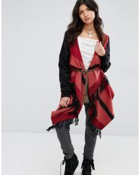 Rip Curl - Rip Curl Red/grey Blanket Knit - Lyst