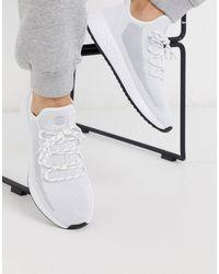 Pull&Bear Mesh Sneaker - White