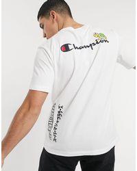Champion X Super Mario - T-shirt à logo - Blanc