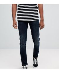 ASOS - Tall Skinny Jeans In Blue Black - Lyst