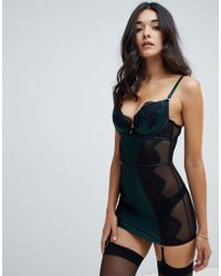 Ann Summers - Forest Lace Cami Suspender Dress - Lyst