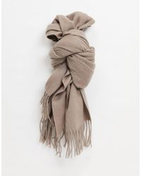 ASOS 100% Wool Blanket Scarf - Brown