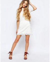 Hollister - Lace Mini Skirt - Lyst