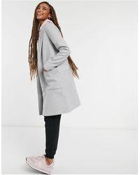 Pull&Bear Серое Пальто Join Life-серый