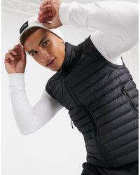 The North Face Bodywarmer Van Dons Met Stretch - Zwart
