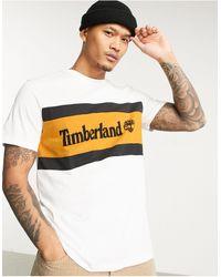 Timberland Cut & Sew Chest Logo T-shirt - White