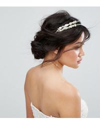 Ribbon & Asher - Ribbon & Asher Delicate Half Double Head Band - Lyst
