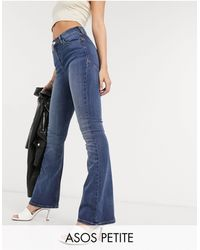 ASOS Asos Design Petite Hourglass 'lift And Contour' Flare Jeans - Blue