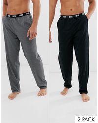 ASOS 2 Pack Lounge Pajama Bottom - Gray