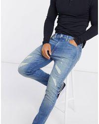 Levi's 510 - Distressed Skinny-fit Jeans - Blauw