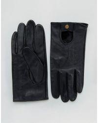 ASOS DESIGN - Asos Leather Driving Gloves In Black - Lyst