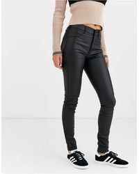 Dr. Denim Solitaire - Superskinny Jeans Met Superhoge Taille - Zwart