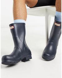 HUNTER Original - Stivali da pioggia corti blu