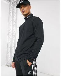 adidas Originals Черная Водолазка С Логотипом -черный