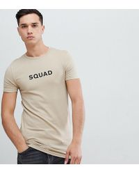 ASOS - Tall Muscle Fit T-shirt With Squad Slogan Print - Lyst