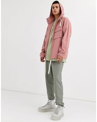 ASOS Розовая Куртка С Капюшоном - Розовый