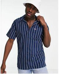 Tommy Hilfiger Camisa con estampado a rayas Camp - Azul