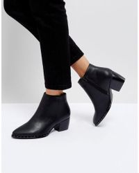 Truffle Collection - Stud Rand Mid Heel Boot - Lyst