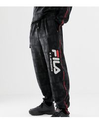 D-ANTIDOTE - X Fila joggers With Repeat Logo Pattern - Lyst