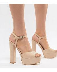 Truffle Collection - Platform Heeled Sandals - Lyst