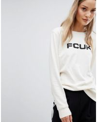 French Connection - Fcuk Print Sweatshirt - Lyst