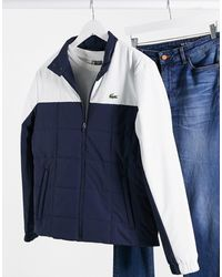 Lacoste Lightweight Quilted Jacket - Blue