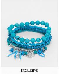 South Beach Набор Голубых Браслетов -синий
