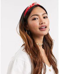 ASOS Knot Headband - Red