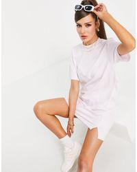 adidas Originals 'tennis Luxe' Logo T-shirt Dress - Pink