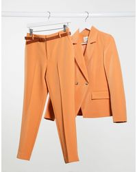 Stradivarius Pantalones - Naranja