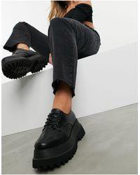 ASOS Черные Туфли На Массивной Подошве Для Широкой Стопы - Черный
