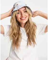 Weekday Berg Reversible Recycled Floral Bucket Hat - Black
