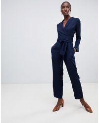 Finery London - Godman Wrap Tailored Jumpsuit - Lyst