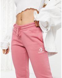 Converse Star Chevron Logo Sweatpants - Pink