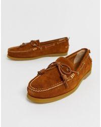 Polo Ralph Lauren Millard - Chaussures bateau à enfiler en daim - Fauve - Marron