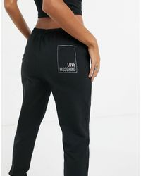 Love Moschino Черные Джоггеры С Логотипом В Рамке -черный