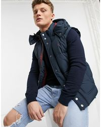 Jack Wills Firstone Hooded Gilet - Blue