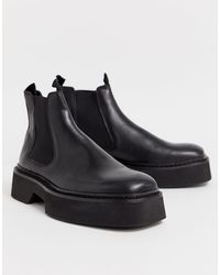 ASOS Chelsea Square Toe Boots - Black