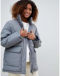 Weekday - High Neck Padded Jacket With Drawstring - Lyst