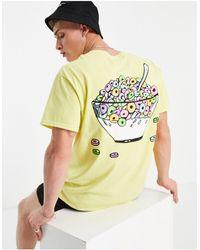 New Love Club – T-Shirt mit Zerealien-Print - Weiß
