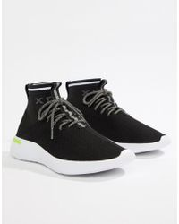 Pull&Bear Knitted Sock Trainers - Black