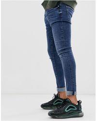 River Island Jeans lavaggio medio effetto spray - Blu