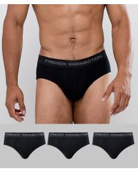 French Connection - 3 Pack Briefs - Lyst