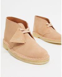 Clarks Desert boots en daim - Grège - Neutre