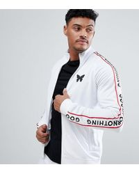 Good For Nothing - Track Jacket In White With Side Stripe Exclusive To Asos - Lyst